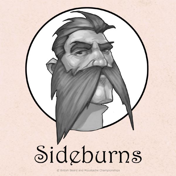 how to connect sideburns to beard